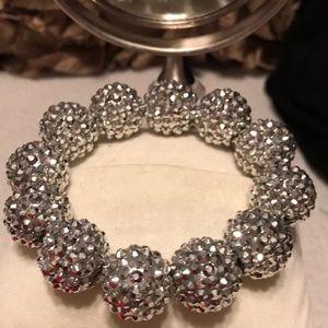 Kenneth Jay Lane Elastic Silver Bracelet